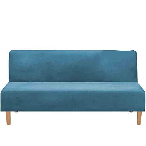 Funda de sofá Cama Plegable sin Brazos Jacquard para Sala de Estar Fundas de sofá elásticas Terciopelo elástico sin apoyabrazos Funda de sofá-Tipo 2 Azul Turquesa, M 145-180CM