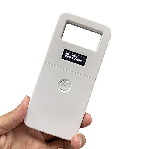 Chiplesegerät für Tiere, RFID 134,2 kHz Tierchip Lesegerät Haustierchips Transponder Mikrochip Reader mit Hoher Helligkeit OLED-Display, Tierkennzeichnung Chip Leser, ISO FDX-B Animal Chip Reader