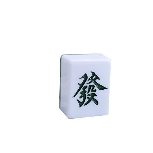 RUGY Mahjong, Esposas del Hogar, Esposas del Hogar, Mahjong De Primera Clase, Aspecto Hermoso Y Duradero, Desgaste Anti-Gota, Sólido - Verde