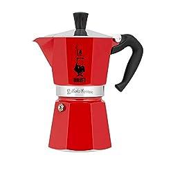 cheap Bialetti 6 Cup Moka Stove Espresso Machine, Red