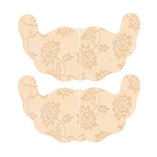 Bras adesivi del pizzo 12pcs per le donne, reggiseno appiccicoso invisibile per grandi seni, reggiseno senza spalline senza spalline invisibile reggiseno in silicone per vestito senza schienale con ca