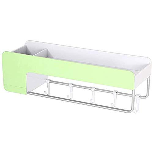 YSGJ Speicher-Organisator Regal für Badregal Magnet Duschpaneel für Rackhalterung Küche mit Handtuch,Grün