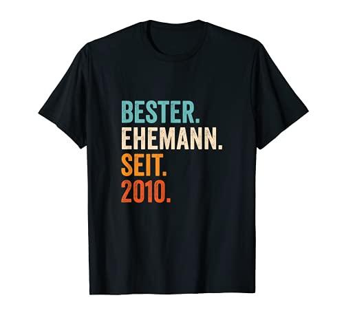 Bester Ehemann Seit 2010 11. Hochzeitstag 11 Jahre T-Shirt