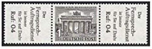 Goldhahn Berlin Zusammendruck W34 postfrisch  Bauten 1952 (R6+1+R6) Briefmarken für Sammler