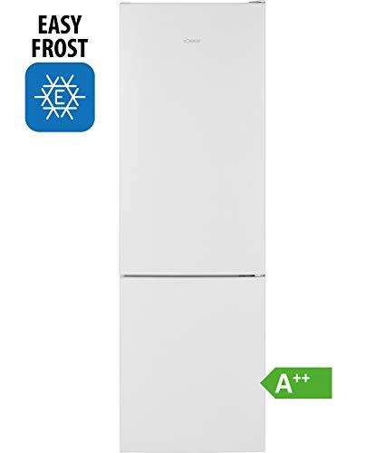 Bomann Kühl-/Gefrierkombination KG 7321 / Easy-Frost / Wechselbarer Türanschlag / LED-Beleuchtung, weiß