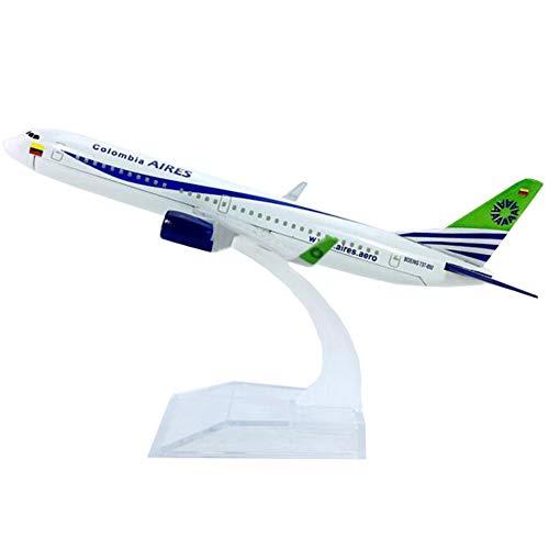 NUOLANDE Flugzeug-Miniaturmodell 16cm Alloy Flugzeug Modell Columbia Airlines B737-800 Metalllegierung Flugzeugmodell, 1/2 Skala