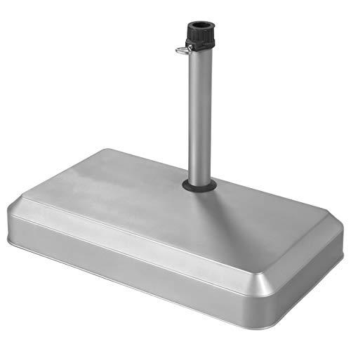 Doppler Betonsockel für Balkon 20 kg – für Rohrdurchmesser 25 bis 32 mm - anthrazit