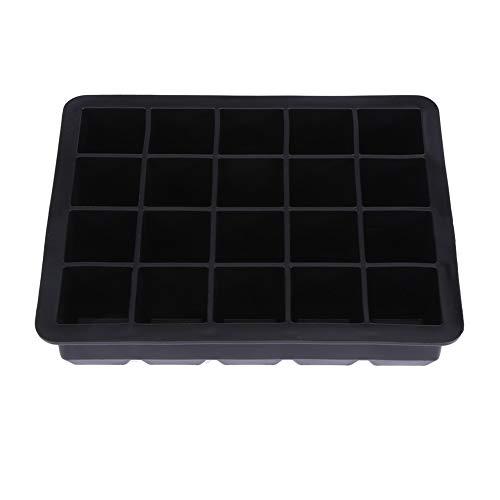Eiswürfelschale, Niunion Durable 20 Grids Silikon Eiswürfelschale Form Eiswürfelhersteller Behälter(Schwarz)