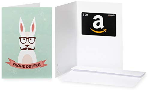Amazon.de Geschenkkarte in Grußkarte - 20 EUR (Hipster-Hase)