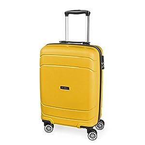 Gabol – Shibuya | Maleta de Cabina Rigida de 37 x 55 x 20 cm con Capacidad para 34 L de Color Amarillo