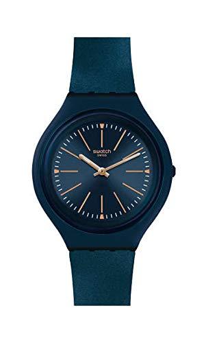 Swatch Reloj Analógico para Mujer de Cuarzo Suizo con Correa en Silicona SVUN109