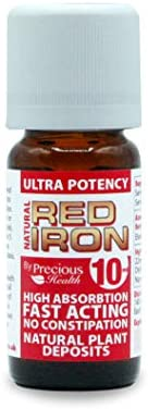 Ultra Potent High Strength Natural Red Iron 10ml for Quickly Restoring Iron Levels - Fast-Acting Top Strenght Red Iron Supplement - No Artificial Colour Preservatives or Additives