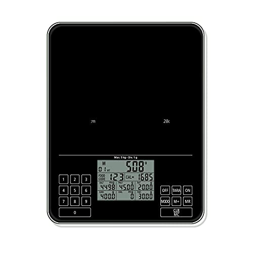Báscula de cocina digital Báscula de nutrición Báscula inteligente de alimentos Gramos onzas para hornear Cooking-B