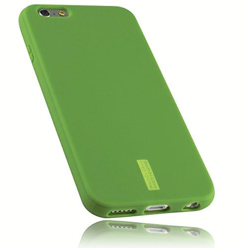 mumbi Hülle kompatibel mit iPhone 6 / 6S Handy Case Handyhülle, grün mit grünem Streifen