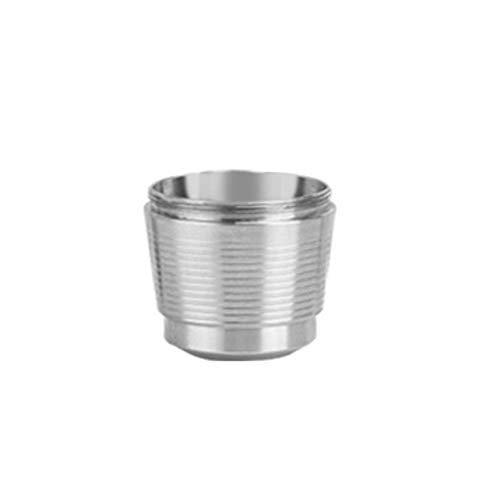 mewmewcat Cápsulas de café reutilizables de acero inoxidable con manipulación de café prensado, filtro de posos de café recargable para Nespresso