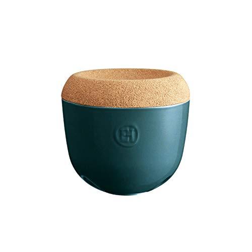 Emile Henry EH348763 - Bote de ajo, cerámica, 14,6 x 14,6 x 13,4 cm, cerámica Corcho, Fuego Suave, 14,6 x 14,6 x 13,4 cm