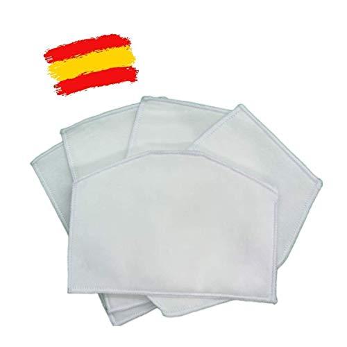 Pack de 15 filtros de 5 capas de tejido no tejido TNT para mascarillas higiénicas de tela_marca: Brissa España