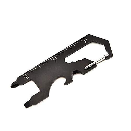 GCCLCF Extérieur Multi-Fonction EDC Outil clé Tournevis décapsuleur avec Porte-clé