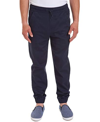 Nautica Young Men's Uniform Jogger Pant, Navy, Large(36/38)