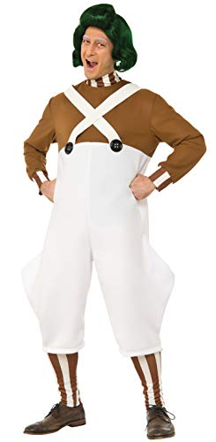 Rubie's Costume Co Willy Wonka & the Chocolate Factory Deluxe Oompa Loompa Costume, Multi, Standard