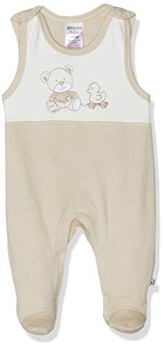 Jacky Unisex omkeerbare jas met knoppen, leuk beer motief, grootte: 56, Leeftijd: 1-2 maanden, Off-White/Beige, 297101
