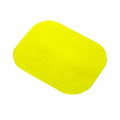 """Dycem - 50-1591Y Non-Slip Mat, Ideal Daily Living Aid for Independent Living and Caregivers, Designed to Address Stabilization and Gripping Problems Found Around The Home, Yellow Textured Pad 10"""" x 14"""" x 1/8"""" by FEI"""