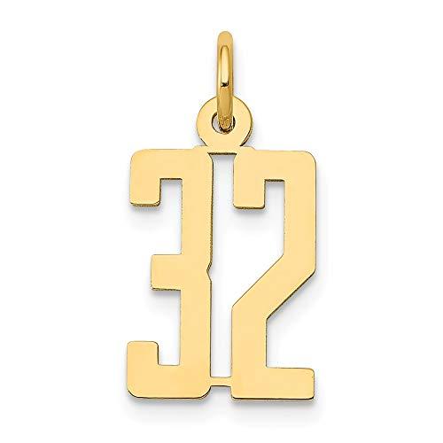 Abalorio alargado de oro amarillo de 14 quilates con 32 pequeños pulidos