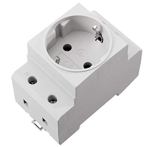 Schuko Steckdose 230V 16A für die Hutschiene Montage Einbausteckdose für Verteiler Schaltschrank