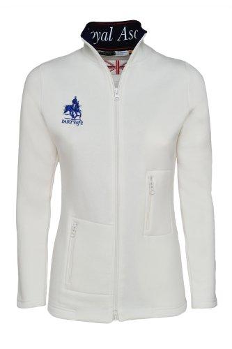 Générique PartyOf2 la Collection Pur-Sang Femmes 14 Veste Polaire zippée Blanc Blanc X-Small