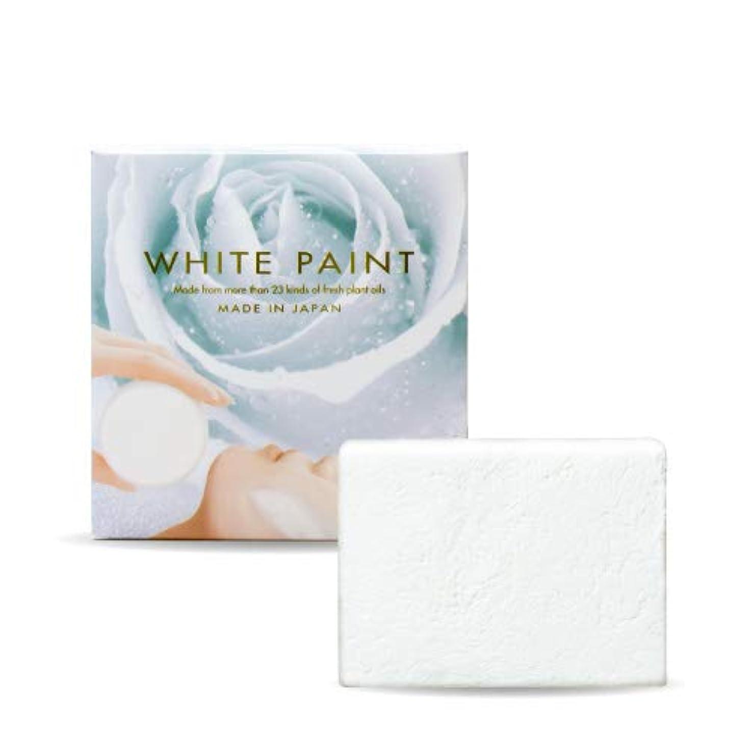 慎重になんでも若者ホワイトペイント 60g ハーフサイズ 塗る洗顔 石鹸 無添加 国産