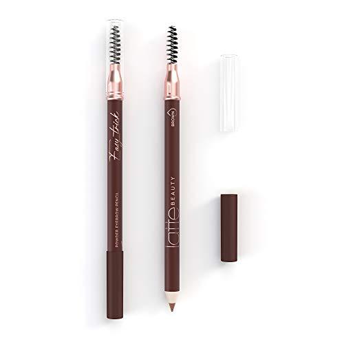 Latte Beauty Easy Trick Crayon Sourcil Powder Eyebrow Pencil - Crayon à sourcils double face super doux - Crayon sourcil marron de longue durée de 12 heures - Définit parfaitement - Marron