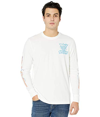 Reebok Classics Unisex Ghostbuster Long Sleeve T-Shirt, White, M
