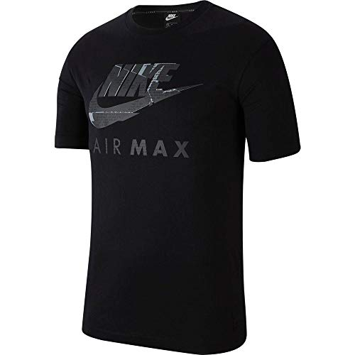 Nike Mens Air Max Tshirt, Short Sleeve top (Large, Black)