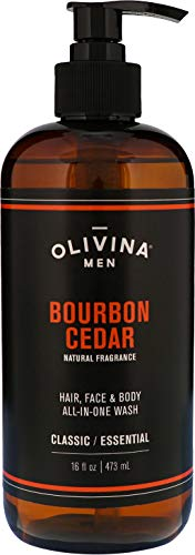 Olivina Men Hair, Face & Body All-in-One Wash,...