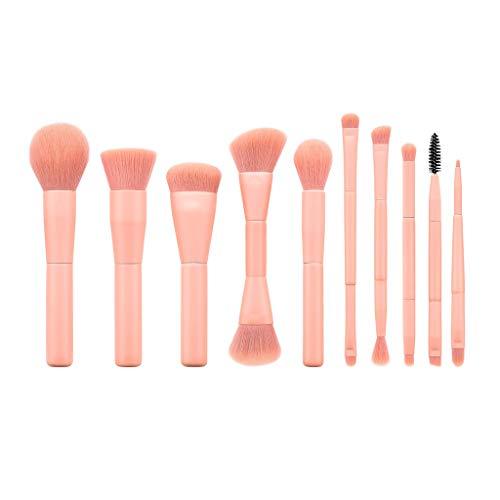 FENG Lot de 10 pinceaux de maquillage professionnels en poudre synthétique de qualité supérieure Crème liquide pour le visage