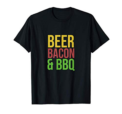 Beer, Bacon & BBQ | Grilling Summer Party Smoker Barbecue T-Shirt
