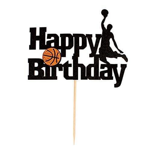 TomaiBaby Decoración de Torta de Baloncesto Decoración de Torta de Feliz Cumpleaños Decoración de Torta de Baloncesto para Hombre Niño Padre