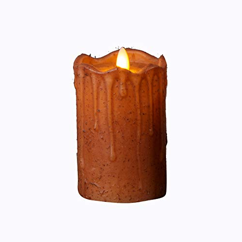Your Heart's Delight Lifelike Flickering Flame Rust Flameless Candle, Multi