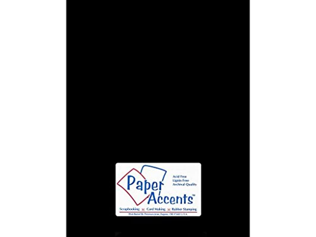 Accent Design Paper Accents ExtraHeavyBlk Chipboard 8.5x11 2X Heavy 90pt Black