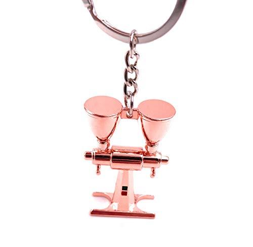 Onwomania Schlüsselanhänger Abfuellmaschine EIS Eismaschine Bronze Anhänger Keychain