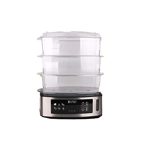 NAFE Vaporera eléctrica para Alimentos, 14 litros de Gran Capacidad, 3 Capas,...