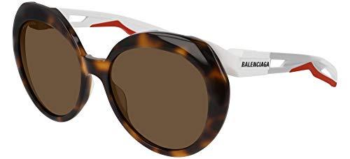 Gafas de Sol Balenciaga BB0024S HAVANA WHITE/BROWN mujer