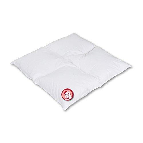 Lit bébé couverture de 4 Barrettes lit. Nain Toile 60% duvet 40% plumes (blanches) Allemande 300 g 80 x 80, Blanc, 80 x 80 cm
