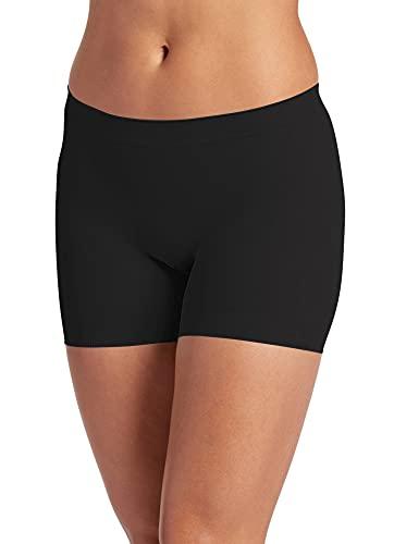 Jockey Women's Underwear Skimmies Short Length Slipshort, black, S