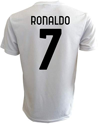 Ufficiale Camiseta de fútbol blanca y negra 2020/2021 – N.7 – Tallas de niño y adulto, Bianconero, 6 años