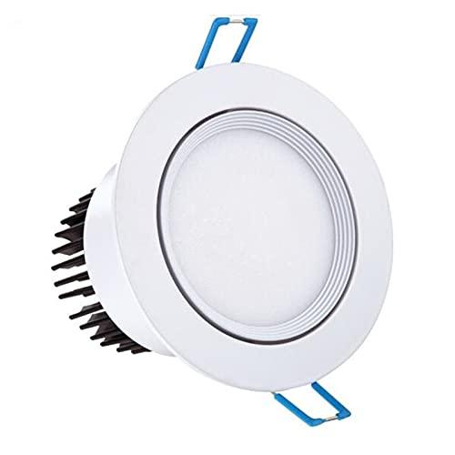 WHEEJE Super brillante 6W 9W 12W LED Downlight Blanco Cuerpo Manchado regulable COB 110V 220V Accesorios de iluminación Empotros Empotrados Abajo Luces de interior (Body Color : 3000K Warm white)
