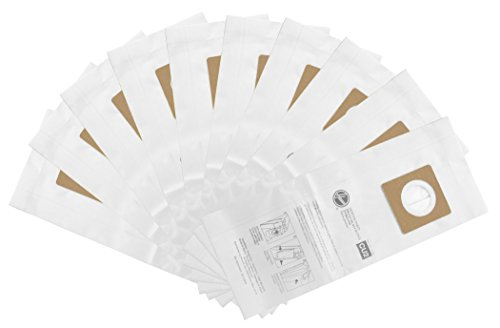 Hoover Commercial AH10143 Upright Bags for HushTone, Standard Filtration (Pack of 10), White