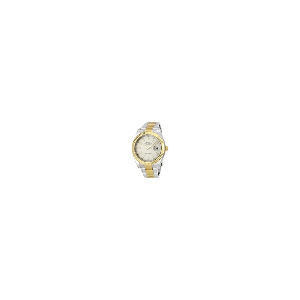 Fashion Shopping Rolex Datejust II Cream/Ivory Dial Stainless Steel and 18K Yellow Gold Rolex Oyster Automatic Mens Watch 116333ISO