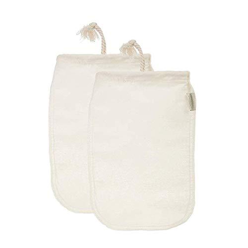 FOGAWA Cheese Cloth 2pz Paño Queso Bolsa de Leche Telas Filtrantes de Nuez Reutilizable Gasa Colador Mulla para Queso Tejido de Algodón Natural para Mantequilla Leche