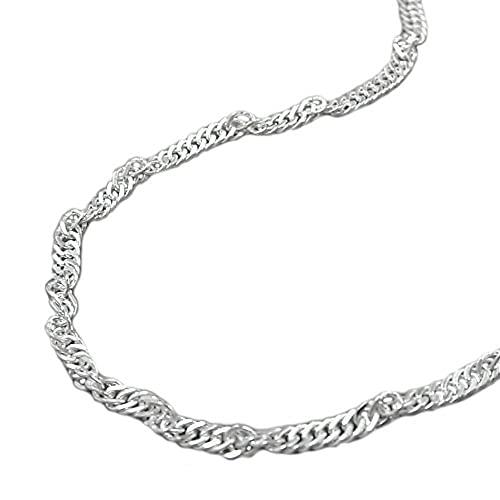 Alex-Super-Schmuck Collana Singapore in argento 925, lunghezza 50 cm, lunghezza 2 mm